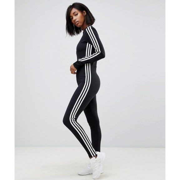92abbd267cb3 adidas Pants - New ADIDAS Three Stripe Stage Stirrup Jumpsuit